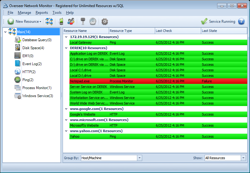 Screenshot for Overseer Network Monitor 5.0.215.89